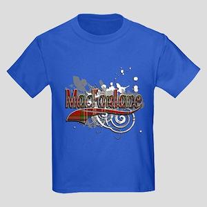 MacFarlane Tartan Grunge Kids Dark T-Shirt