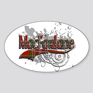 MacFarlane Tartan Grunge Sticker (Oval)