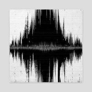 Black Abstract Ikat Queen Duvet