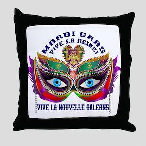 Mardi Gras Queen 10 Throw Pillow