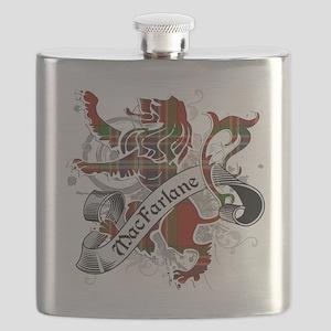 MacFarlane Tartan Lion Flask