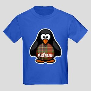 MacFarlane Tartan Penguin Kids Dark T-Shirt