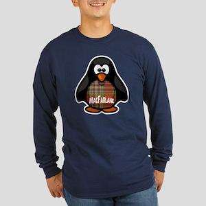 MacFarlane Tartan Penguin Long Sleeve Dark T-Shirt