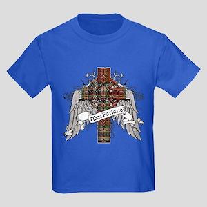 MacFarlane Tartan Cross Kids Dark T-Shirt