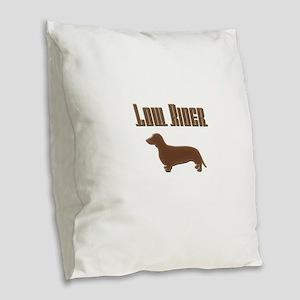 Low Rider Burlap Throw Pillow