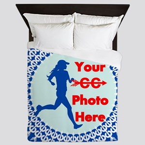 Cross Country Runner Photo Queen Duvet