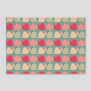 Retro Fun Snail Pattern 5'x7'Area Rug