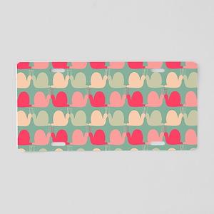 Retro Fun Snail Pattern Aluminum License Plate