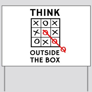 Think Outside The Box Yard Sign