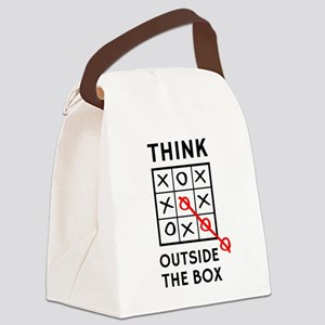 Think Outside The Box Canvas Lunch Bag