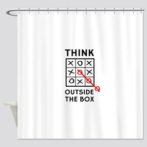 Think Outside The Box Shower Curtain