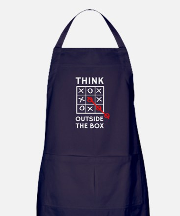 Think Outside The Box Apron (dark)