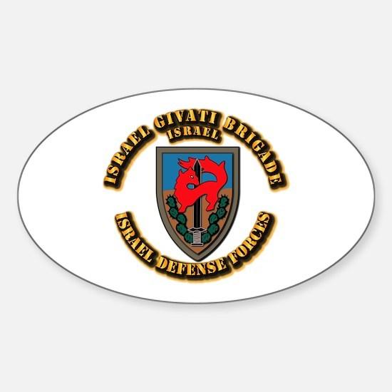 Israel Givati Brigade Sticker (Oval)