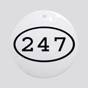 247 Oval Ornament (Round)