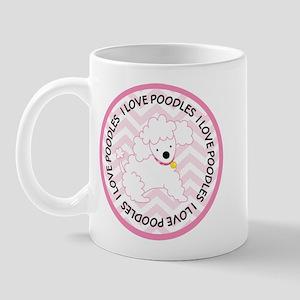 I Love Poodles Cute Mugs
