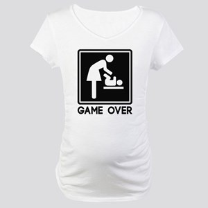 Game Over New Baby for Parent Mom Maternity T-Shir