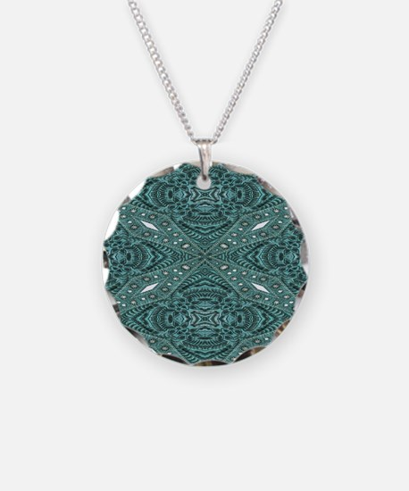 metallic tooled leather west Necklace