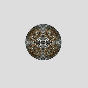 metallic tooled leather western Mini Button