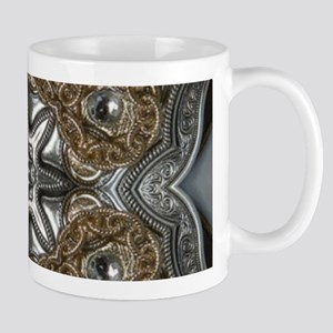 metallic tooled leather western Mugs
