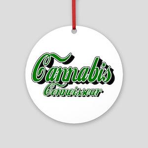 Cannabis Connoisseur Ornament (Round)