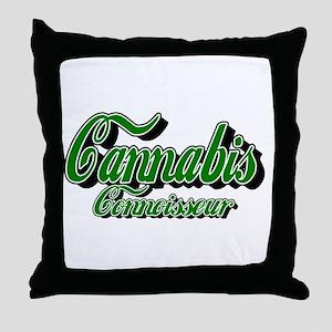 Cannabis Connoisseur Throw Pillow