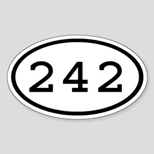 242 Oval Oval Sticker