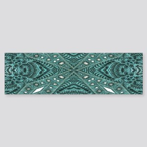 Turquoise tooled leather western Bumper Sticker