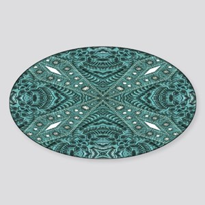 Turquoise tooled leather western Sticker