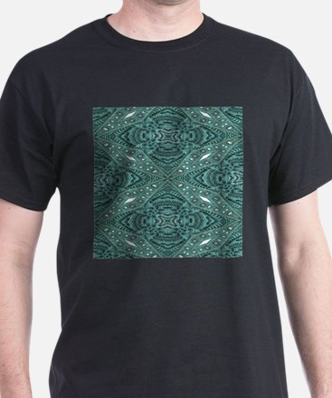 Turquoise tooled leather western T-Shirt