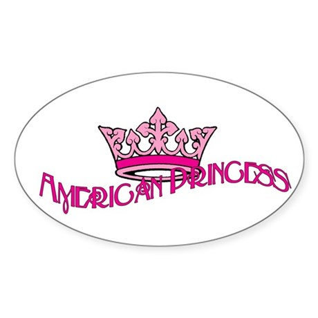 American Princess Sticker (Oval)