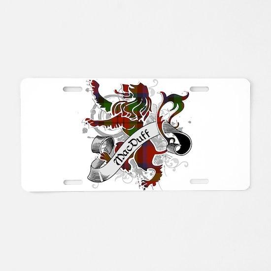 MacDuff Tartan Lion Aluminum License Plate