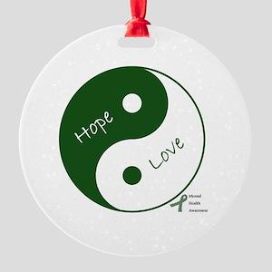 Yin Yang Hope Love Round Ornament