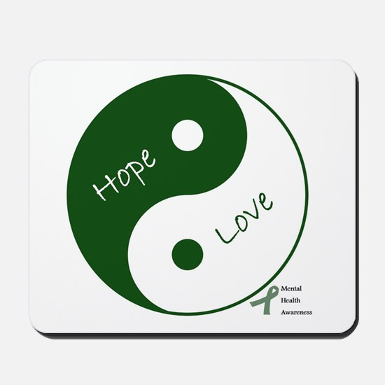 Yin Yang Hope Love Mousepad