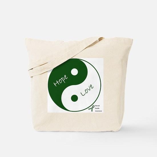 Yin Yang Hope Love Tote Bag