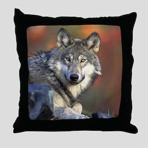 Wolf Photo Throw Pillow
