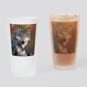 Wolf Photo Drinking Glass