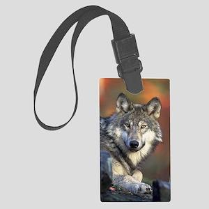 Wolf Photo Large Luggage Tag