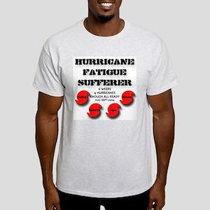 Hurricane Fatigue Sufferer Ash Grey T-Shirt