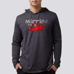 Married To A Zombie Mens Hooded Shirt