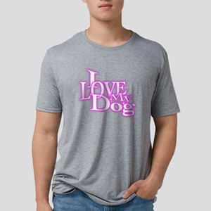 I Love My Dog Mens Tri-blend T-Shirt