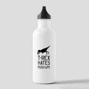 T-Rex Hates Push-Ups Water Bottle