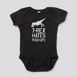 T-Rex Hates Push-Ups Baby Bodysuit