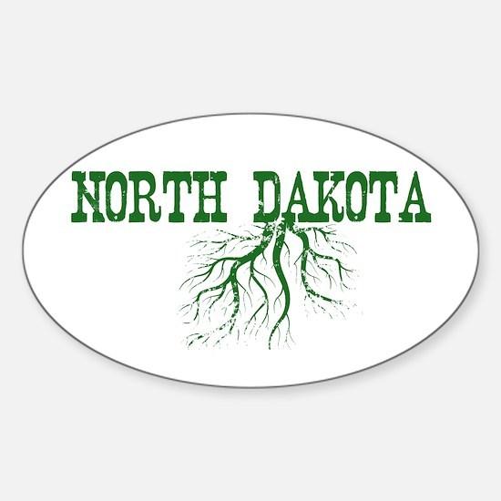 North Dakota Roots Sticker (Oval)