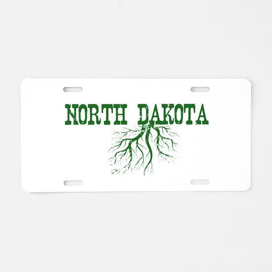 North Dakota Roots Aluminum License Plate