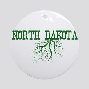 North Dakota Roots Ornament (Round)