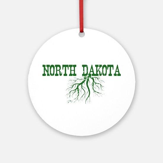 North Dakota Roots Ornament (Round)