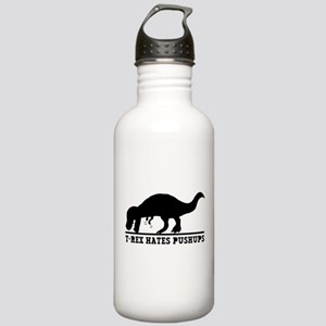 T-Rex Hates Push-Ups Water Bottle