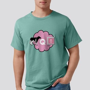 Cow Q Late Mens Comfort Colors Shirt
