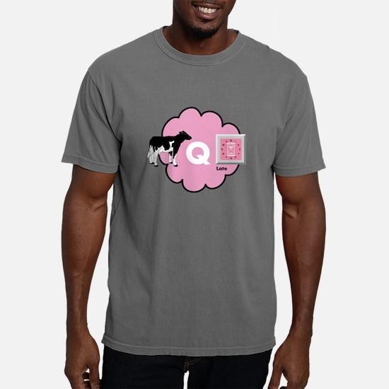 Cow Q Late Mens Comfort Colors Shirt