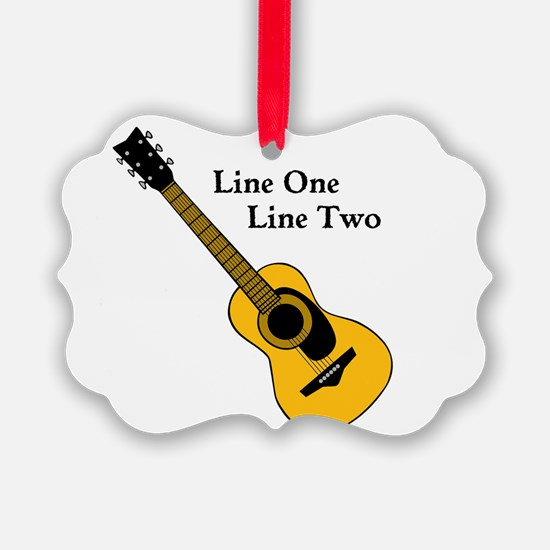 Custom Guitar Design Ornament
